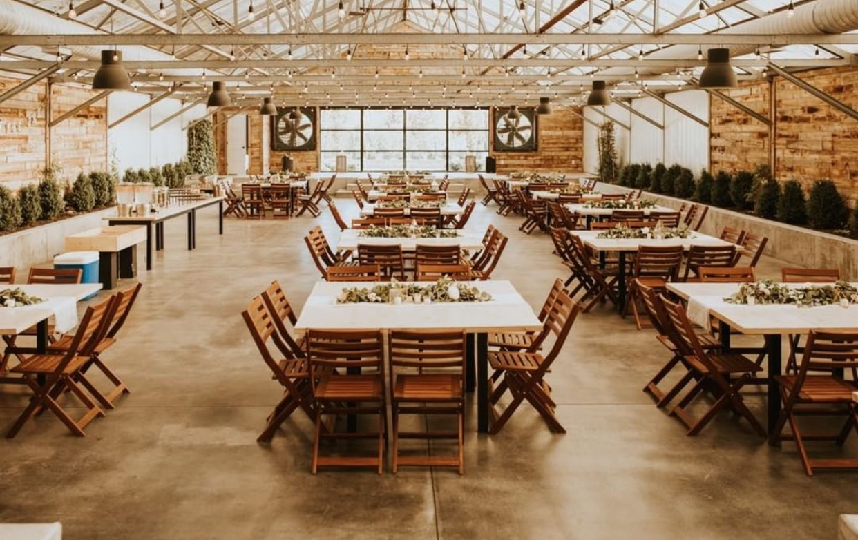 tables at Glasshouse Venues